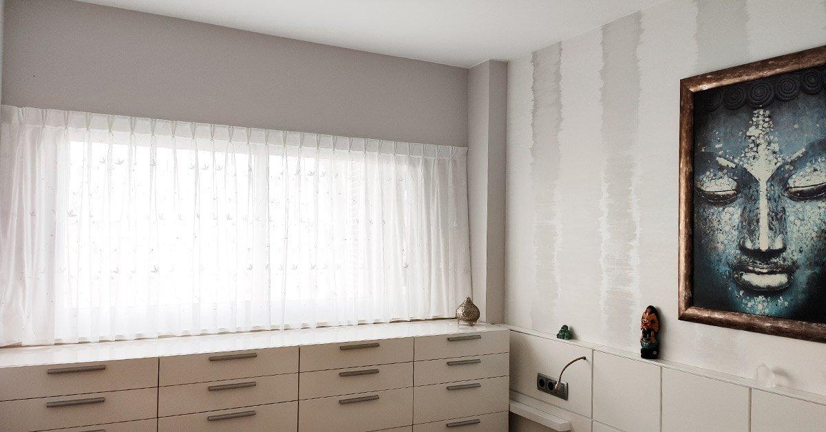 Cortinas de dormitorio para Montserrat G.A.