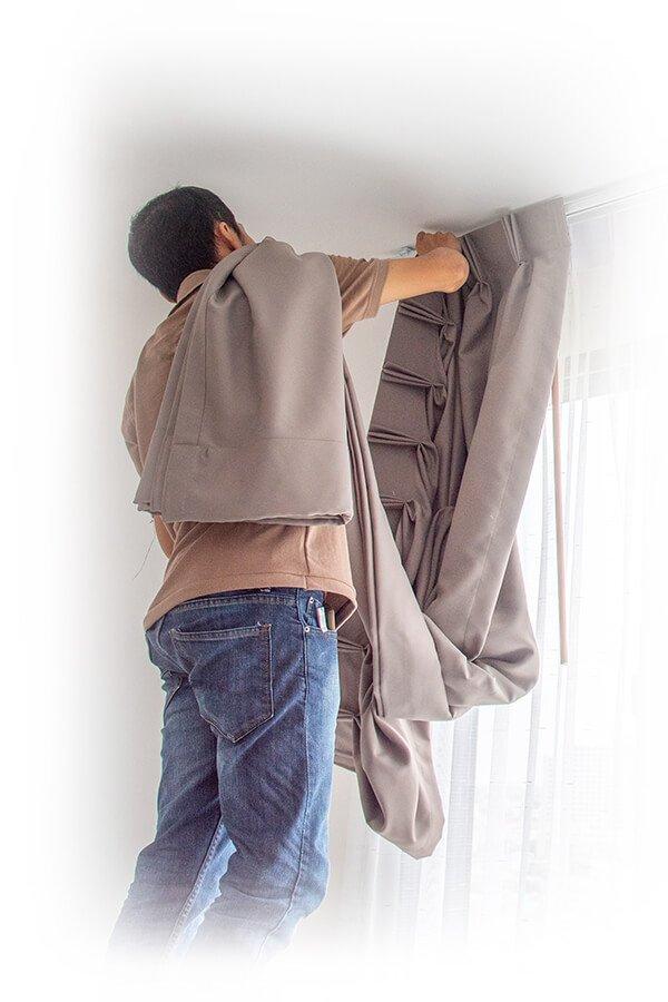 Confección e instalación de cortinas y estores a medida a domicilio en Barcelona